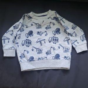 Gymboree Trucks & Crane's Sweatshirt